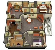 Floor Plan Of A Living Room 2 Bedroom Suites In Las Vegas Royal Tahitian Tahiti Village