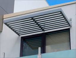 Outdoor Window Awnings And Canopies Cantilevered Awnings Are The Modern Sleek Design Of Todays Passive