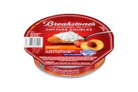 Cottage Cheese Singles by Breakstone U0027s Cottage Doubles Peach Cottage Cheese 3 9 Oz Tray
