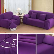 Slipcovers For Sofa Beds by Purple 4 Size Stretch Fit Sofa Cover Couch Easy Removable