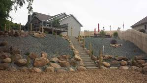 Landscaping Ideas For A Sloped Backyard by How To Landscape A Hill On A Budget Articlespagemachinecom