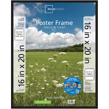 Mounting Posters Without Frames Mainstays 16x20 Basic Poster U0026 Picture Frame Black Set Of 2