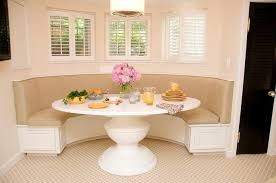 banquette with round table round banquette dining sets dining room ideas