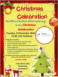 european university cyprus christmas celebration