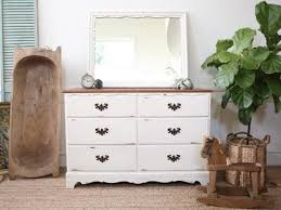 Shabby Chic Credenza by Vintage Shabby Chic Vintage Dresser Credenza 6 Drawers With