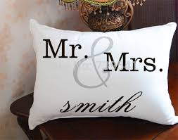 His And Her Wedding Gifts Aliexpress Com Buy Free Shipping Custom Mr And Mrs Pillow Cover