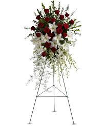 u0026 rose tribute spray sympathy flower delivery hollywood