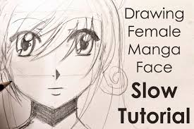 drawing easy manga face slow tutorial youtube