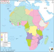 colonial map map of africa