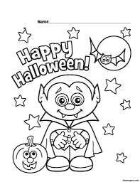 halloween little vampire printabel coloring pages printable
