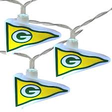 green bay packers lights nfl green bay packers led pennant lights battery operated