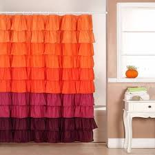 Ruffled Curtains Pink Whimsy Pretty Things Ruffle Shower Curtains