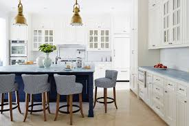 blue kitchen island navy blue kitchen island cottage kitchen andrew howard