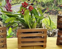 Hanging Planter Boxes by Wood Hanging Planter Etsy