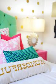 amazing tween bedroom design pink navy gold and green inside