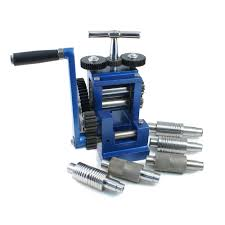 jewelry rolling mill rolling mill with 7 rollers flat pattern and wire