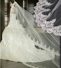 wedding veils for sale luxury cathedral wedding veil white or ivory lace edge 3m