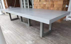 concrete top dining table custom concrete kitchen dining tables trueform inside cement dining