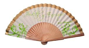 personalized folding fans 3 color custom imprinted fabric fans fanprinter your