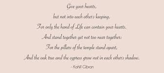 sunday quote kahlil gibran on marriage muscat bridal