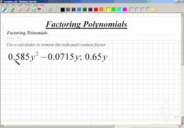 classroom intermediate algebra factoring trinomials with common