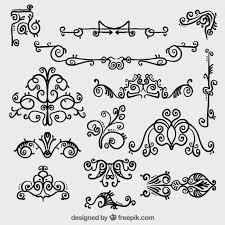 retro ornamental decoration vector premium