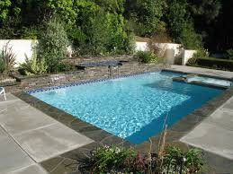 awesome pool design with blue tile floor ideas for swimming pool