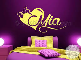 Heart Wall Stickers For Bedrooms Girls Personalised Bedroom Nursery Wall Sticker Decor Decal With