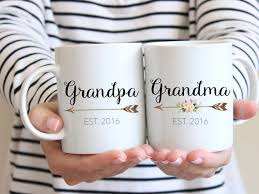 gift for grandparents mug set couples mug grandma mug