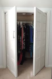 Swing Closet Doors Remodelaholic Bi Fold To Paneled Door Closet Makeover