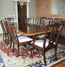 Stickley Dining Room Furniture For Sale by Chippendale Style Mahogany Dining Table Ten Chairs By Stickley