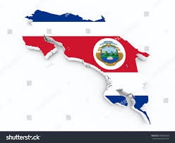 Map Costa Rica Costa Rica Flag On 3d Map Stock Illustration 398569300 Shutterstock