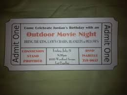 backyard movie night invitations home outdoor decoration