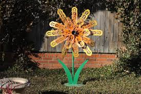 Garden Metal Art Buy A Hand Made Outdoor Whimsical Metal Flower Garden Yard
