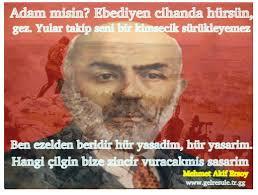 Sadece <b>Mehmet Akif Ersoy</b> şiirleri-Anısına saygı ile. - mf