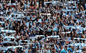 best fans in the world best in the world manchester city fans ecstatic with outrageous