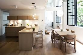 Dining Room Flooring Awesome Rustic Dining Room Idea Using Open Kitchen Flooring For
