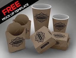 free fast food set psd mock up template on behance