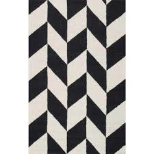 Black Chevron Area Rug Nuloom Chevron Area Rugs Rugs The Home Depot
