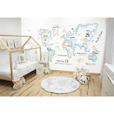 World Map Bedding World Map Wall Painting Complementos De Decoración Infantil
