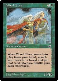 wood elves portal gatherer magic the gathering