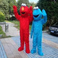 Cookie Monster Halloween Costume Adults Sesame Street Blue Cookie Monster Mascot Blue Elmo Costume Fancy