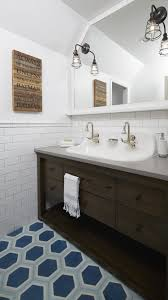 greenview ave boy u0027s bathroom with concrete tiles and trough sink