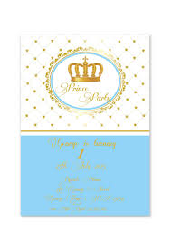 Blue And Gold Baby Shower Decorations by Royal Blue And Gold Prince Crown Baptism Christening 1st