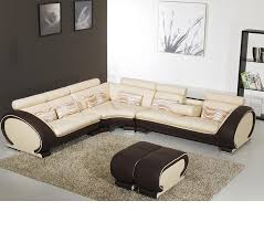 Sofa Casa Leather Dreamfurniture Divani Casa 816b Modern Leather Sectional Sofa