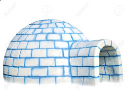 igloo isolated on white background stock photo picture and