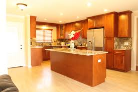 Cream Shaker Kitchen Ideas Astonishing Brown Cherry Shaker Kitchen Cabinets Features Double