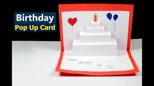 birthday pop up card happy birthday cake pop up card tutorial
