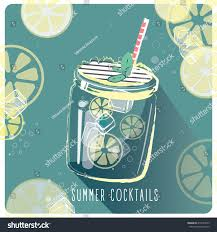 summer cocktails poster cocktail bar retro stock vector 416551093