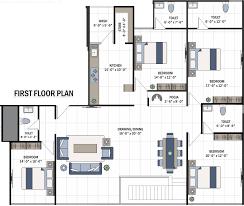 4734 sq ft 5 bhk floor plan image shree radhe 42 parkview